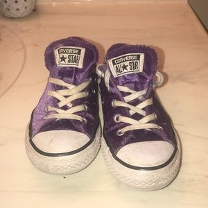 Children's purple converse